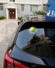 Силиконовая 3D наклейка на автомобиль Разбитое стекло